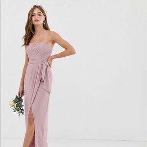 TFNC Bandeau Wrap Midi Maxi Dress